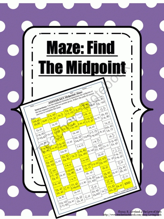 36 best projects to try images on pinterest geometry school and maze find the midpoint of the line segment between the given points product from 4 fandeluxe Image collections
