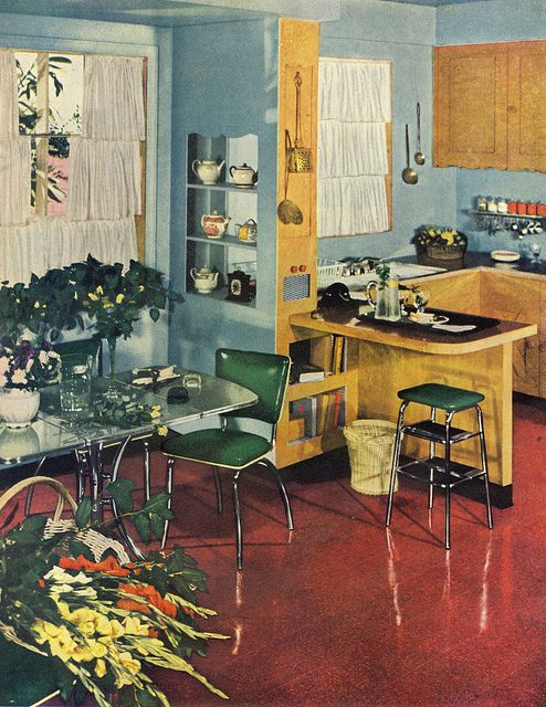 Interior design from Good Housekeeping, 1950.