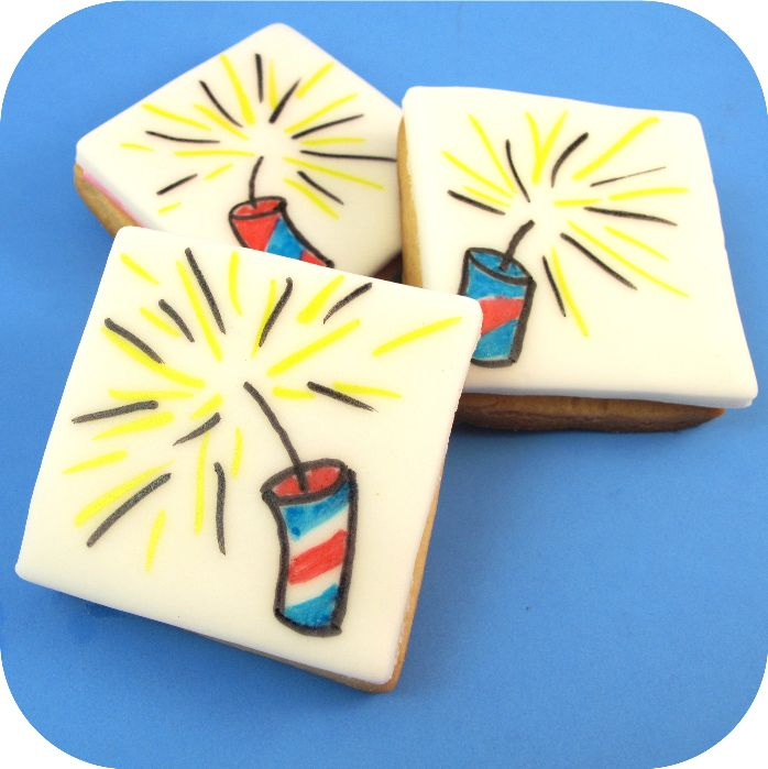 how to draw on food: firecrackers | The Decorated Cookie