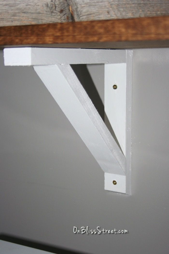 How To Build A Simple Shelf Bracket Woodworking Projects