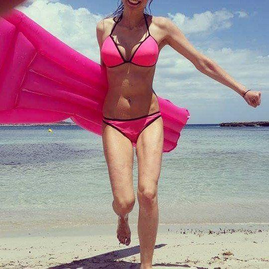magdalena michalak #summer #holiday #summertime #girl #bikini #swimsuit #pink #girly #fun #modellife #model #beach #sea #mallorca #instagood…