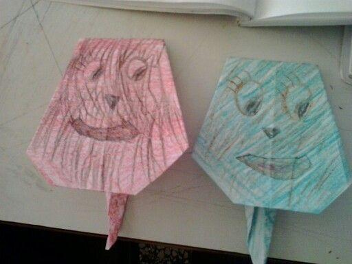 Αυτοσχεδιο origami με μαθητρια μου