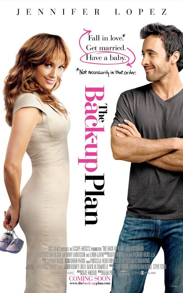 The Backup Plan Movie Poster #LoveRomanticComedies #JenniferLopez #Films