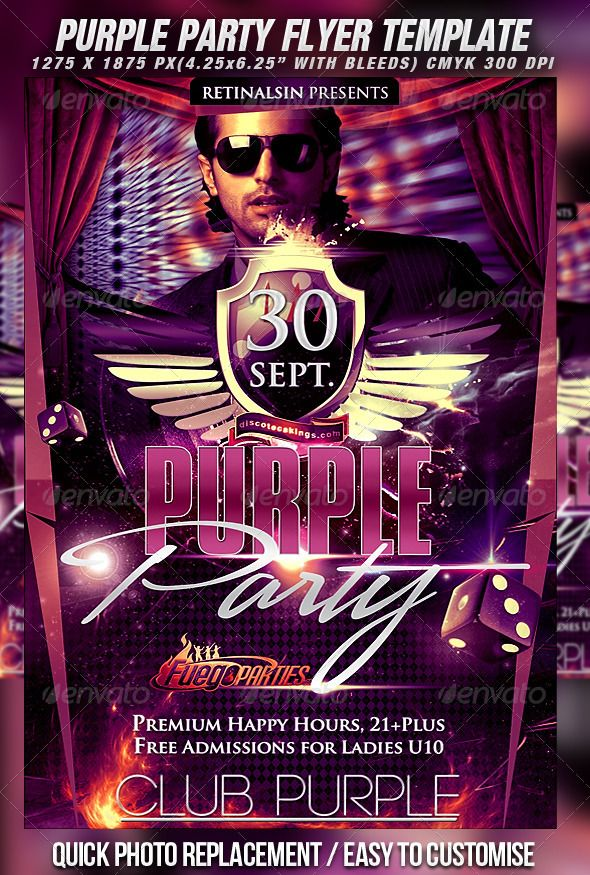 243 Best Night Party Flyer Templates Images On Pinterest Flyer