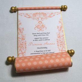 Princesa cumpleaños invitación pergamino fiesta de por SnoringMoon