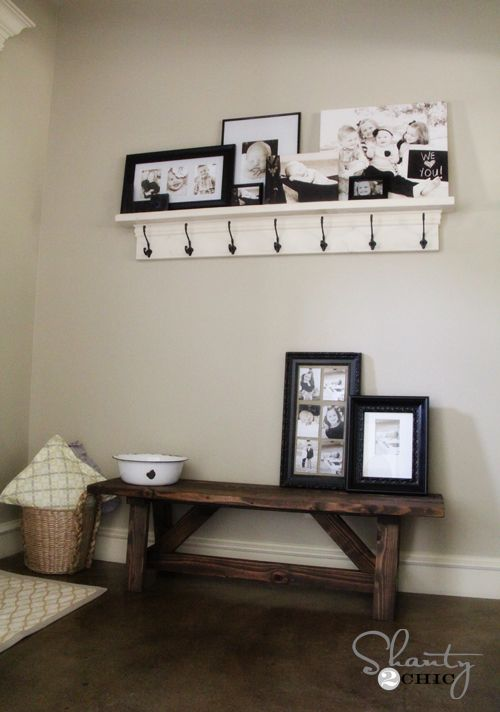 $15 DIY farmhouse bench with plans you can customize for the length you want