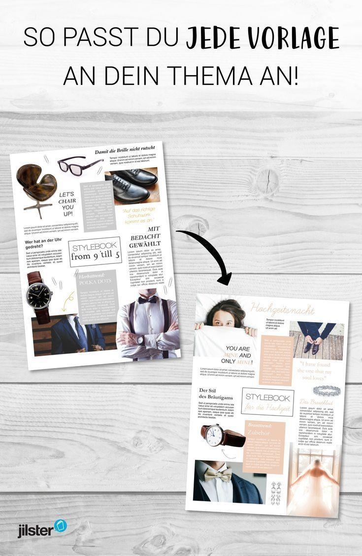 Zeitschriftenvorlage Individuell Deinem Thema Anpassen Jilster Blog Eine Plattform Mit Allen Designs Mit Bildern Hochzeitszeitung Gestalten Hochzeitszeitung Hochzeitszeitung Ideen
