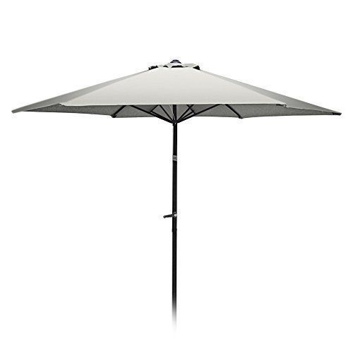 Outdoor Patio Umbrella Market 9 Ft Aluminum Backyard Pool Garden Steel Ribs New #OutdoorPatioUmbrellaMarket #MarketUmbrella