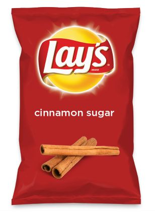 Wouldn't cinnamon sugar be yummy as a chip? Lay's Do Us A Flavor is back, and the search is on for the yummiest flavor idea. Create a flavor, choose a chip and you could win $1 million! https://www.dousaflavor.com See Rules.