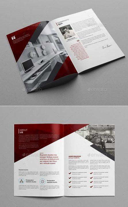 Company Profile Design Templates  30 Contoh Desain Brosur Perusahaan untuk Company Profile