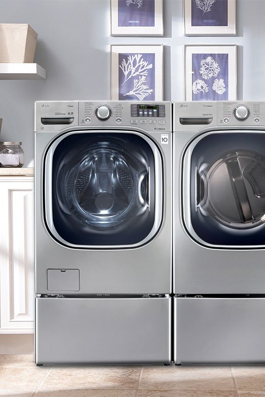 Update your washing machine so you can save up to 20 minutes on large loads of laundry. This front-load washer has great cleaning performance and 14 different wash cycles that can be customized to your laundry needs.