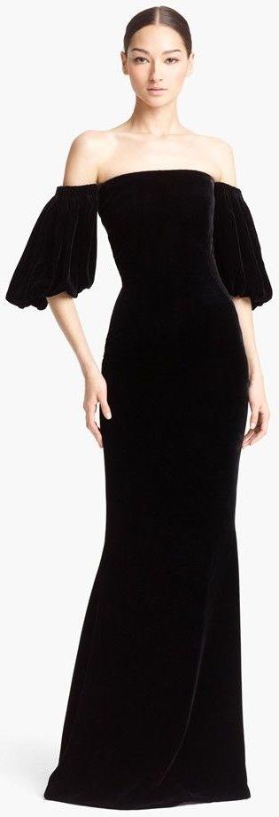 Alexander McQueen black velvet gown   The House of Beccaria~