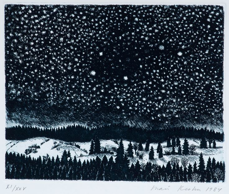 "Inari Krohn Born 1945  ""WINTER NIGHT"""