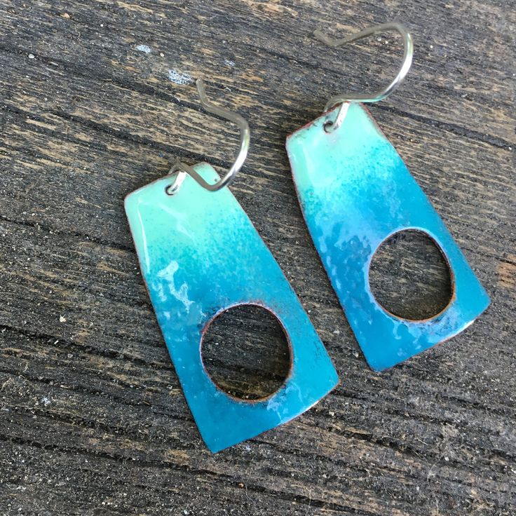 A personal favorite from my Etsy shop https://www.etsy.com/ca/listing/532048124/aqua-coloured-torched-enamelled-sterling