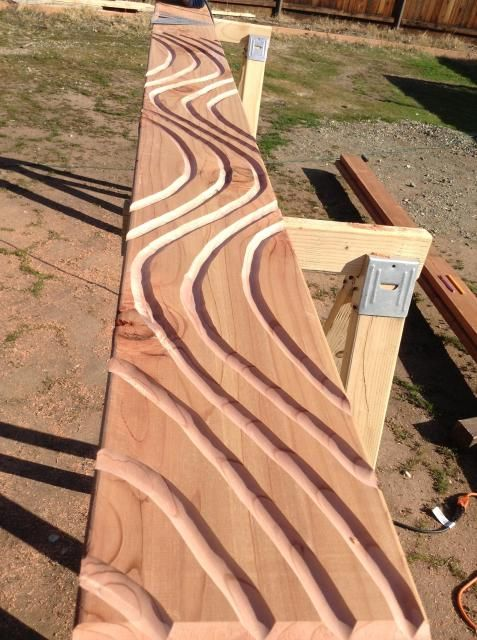 Kiki's Tiki Village -- router ideas do the large [post and stain instead of bamboo
