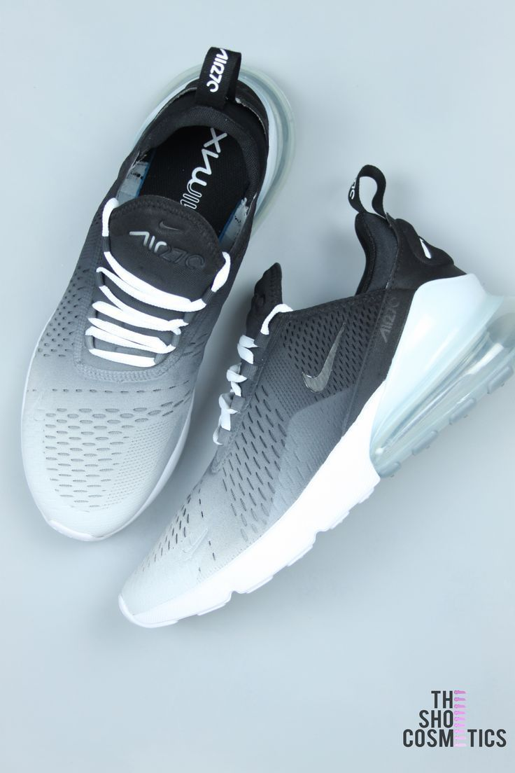 CUSTOM NIKE AIR MAX, OMBRE 270, BLACK AND WHITE