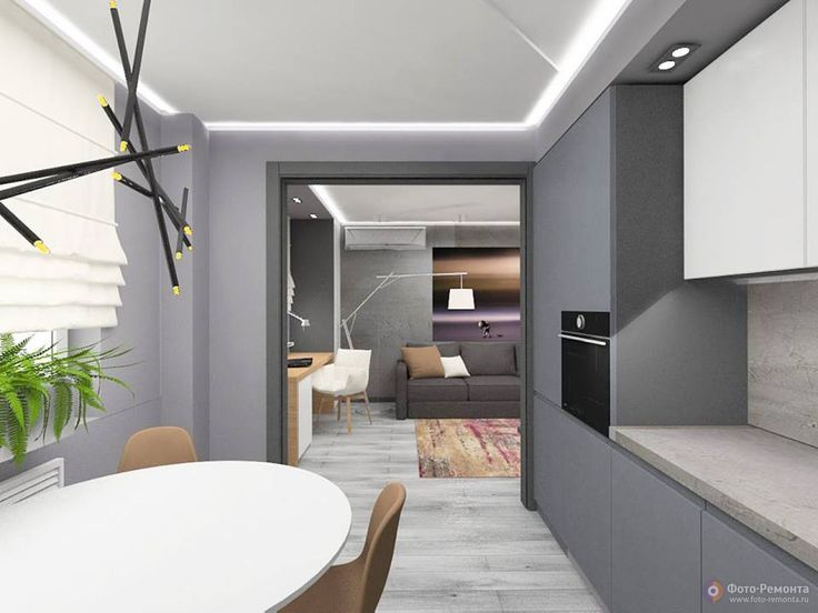 Дизайн квартиры в стиле лофт, 45 кв.м.