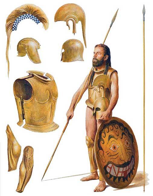Guerrero espartano, 546 aC., por Steve Noon. Más en www.elgrancapitan.org/foro