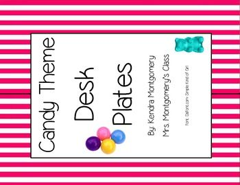 This is a free preview of a brightly colored classroom decor pack. This is perfect for a Candy Themed classroom as well as Carnival/ Circus Themed classroom. Each full sheet contains 2 name plates with fun striped borders and candy images. Each name plate has a blank handwriting line for