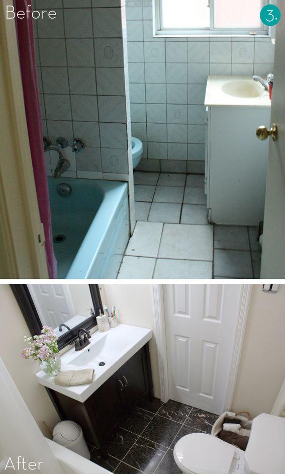 Best 25 Small Bathroom Makeovers Ideas On Pinterest Small Bathroom Small Bathroom Ideas And