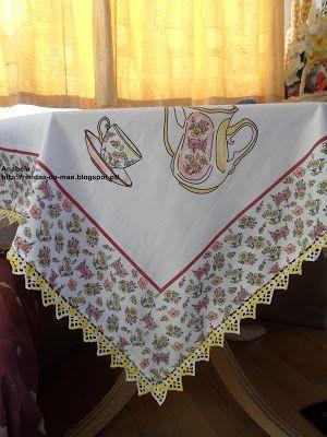 Rendas da Mãe: Toalha anti nódoas 1.20mx1.20m com picô em crochet...