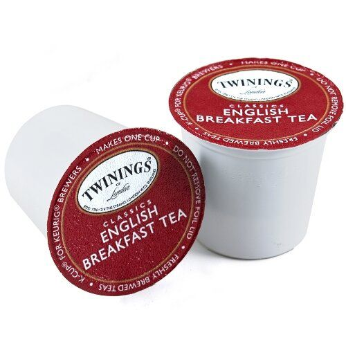 Twinings English Breakfast Tea Keurig K-Cups, 96 Count - Twinings English Breakfast Tea was originally blended to complement the traditional, hearty English Breakfast, from which its name derives. The refreshing and invigorating flavor makes English Breakfast one of the of the most popular black teas to drink at any time or occasion, not just for break...