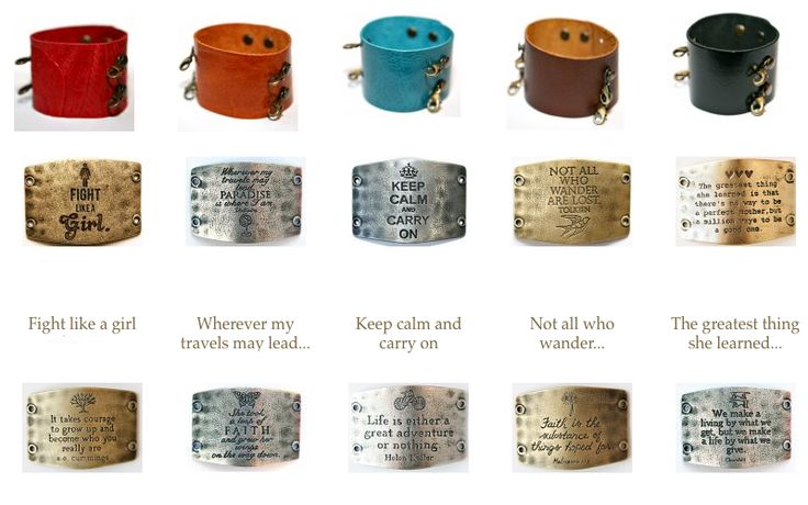 Wide cuffs and sentiments!