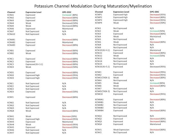 Potassium overload and oligodendrocyte death   To continue on the theme that too much potassium is bad for oligodendrocyes and probably other cells http://ift.tt/2s6FrnR http://ift.tt/2s3xzEv Oligodendrocytes down regulate most of their potassium channels   However one channel reported to be of interest is the TASK-1 channel. This also known asPotassium channel subfamily K member 3 encoded by the KCNK3 (orK2P3.1) one of the members of the superfamily of potassium channel proteins containing…
