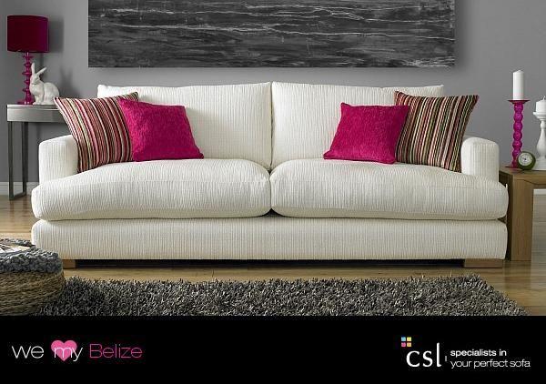 Fabric sofas - Belize - csl-sofas.co.uk