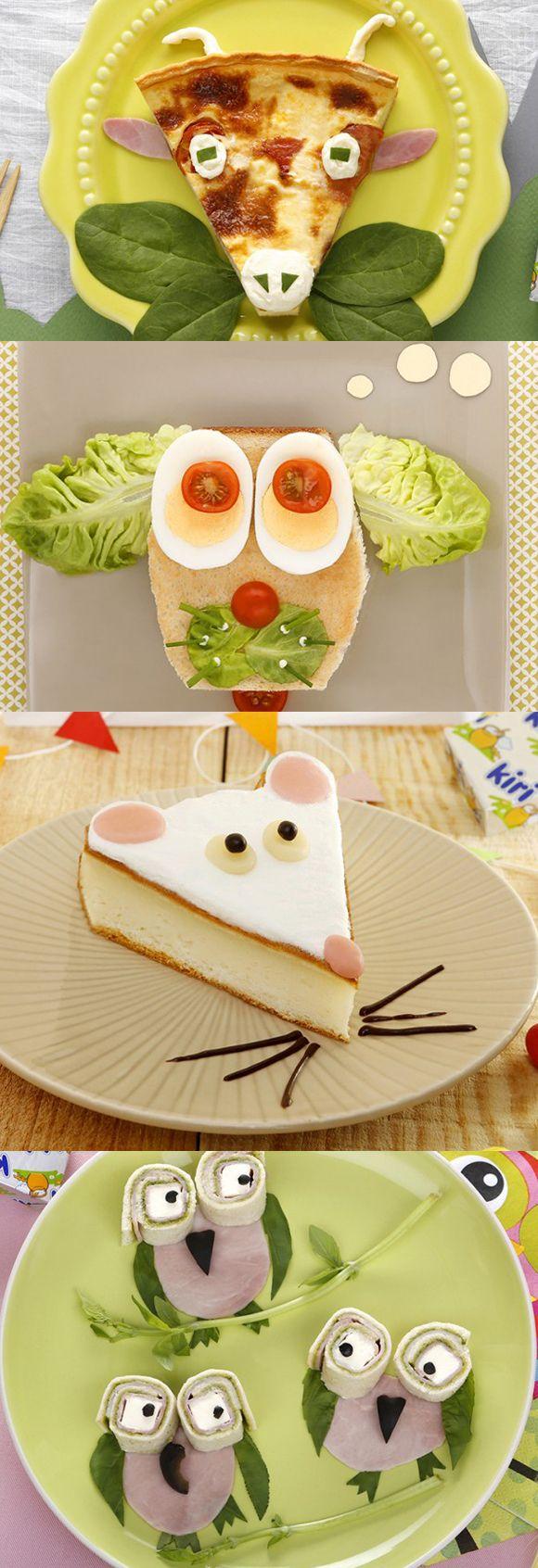 Plein de recettes rigolotes à découvrir : la chèvre, le sandwich wouf, la souris…