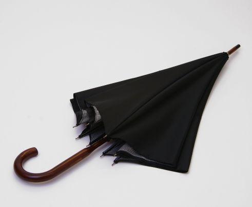 London Undercover Black & White Houndstooth Umbrella