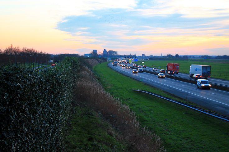 Snelweg Zwolle - Amersfoort bij Nijkerk