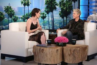 cotibluemos: Kristen Stewart en el show de Ellen DeGeneres