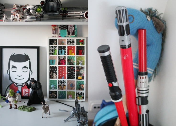 julius room: wallposter carl by sammy rose * collectors shelf homemade * hobbyhorse made by my mom from a cane and an old sock* lots and lots of lego*