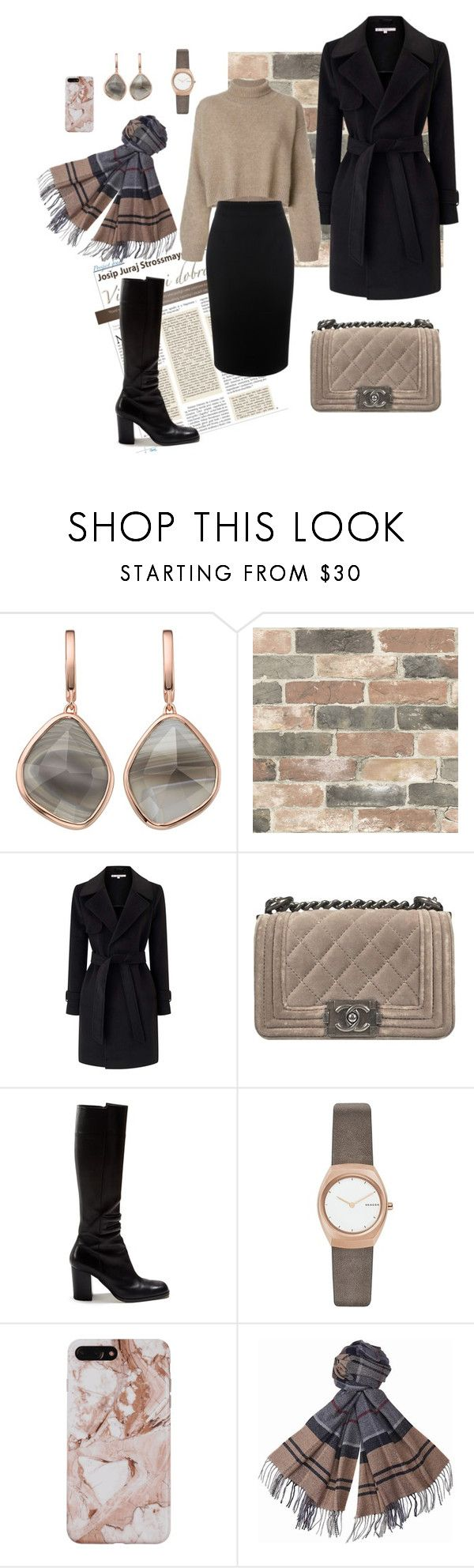 """""""nude autumn"""" by alexia-engelhardt on Polyvore featuring Monica Vinader, Wall Pops!, Miss Selfridge, Chanel, Loewe, Skagen, Barbour and Alexander McQueen"""