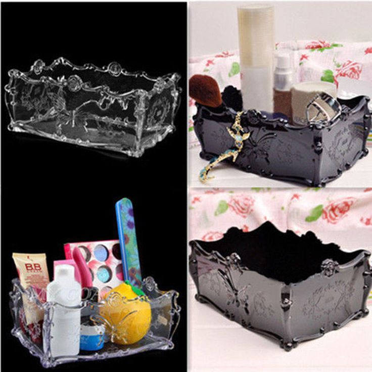 Hot Acrylic Cosmetic Storage Makeup Holder Drawer Organizer Case Butterfly Box