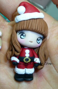 Collana folletta aiutante di babbo natale | Personaggi in FIMO | Bijoux e Accessori Kawaii