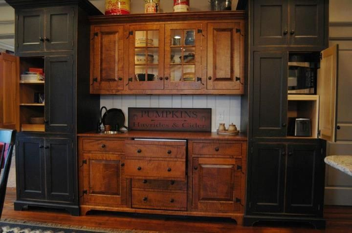 Framed, set-in doors and drawers with exposed hinges. ***AND JUST LOOK AT THESE AMAZING HINGES!!!!!!***Ohhhh My!!!!!! LOVE!!!   Workshops of David T. Smith
