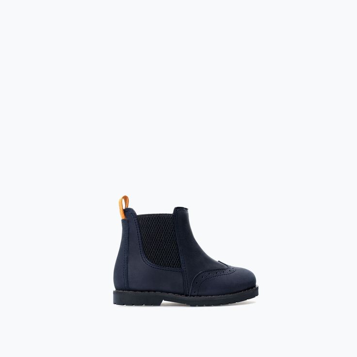 Image 1 of Elastic boot with broguing detail from Zara