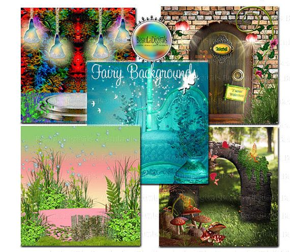 Fairy Themed Background Backdrop Papers  by Beauladigitals on Etsy