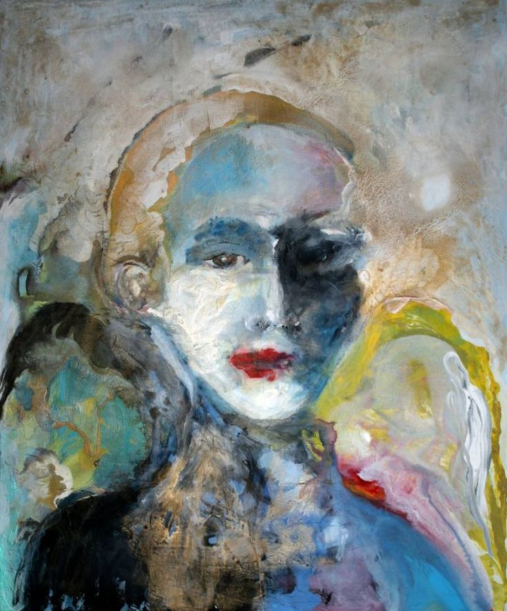 "Saatchi Art Artist Marina Nelson; Painting, ""Weary Angel"" #art:"
