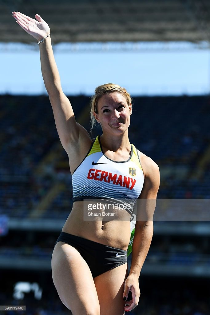 Annika Roloff of Germany competes in the Women's Pole Vault qualification on Day 11 of the Rio 2016 Olympic Games at the Olympic Stadium on August 16, 2016 in Rio de Janeiro, Brazil.