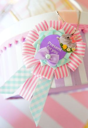 love a stripey cockade // ribbon brooch #diy