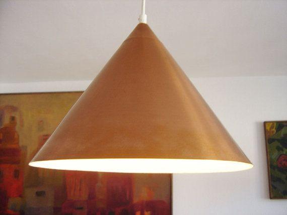 Rare Danish Mid Century Modern Copper Lamp Pendant by MUNICHMODERN