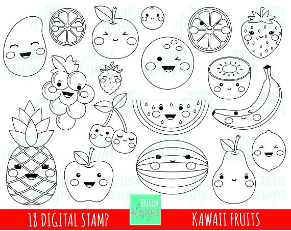 This Item Is Unavailable Etsy Fruit Coloring Pages Coloring Pages Kawaii Fruit