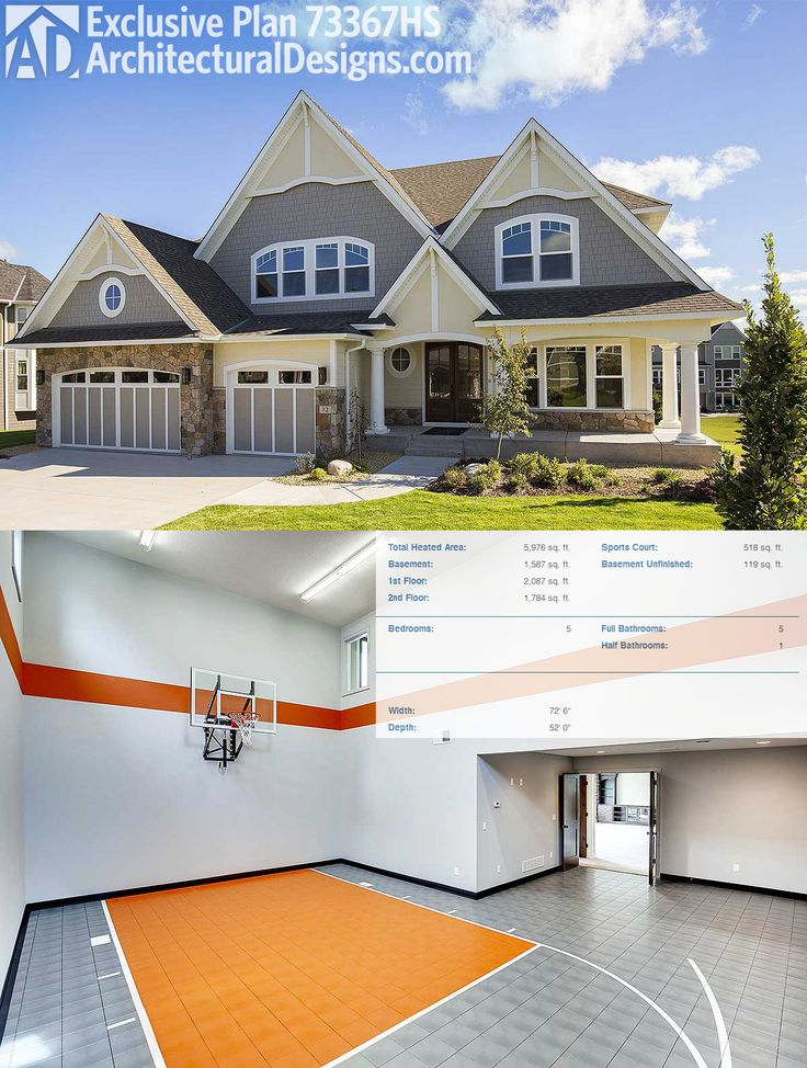1000 images about house plans with sport courts on for Home sports courts