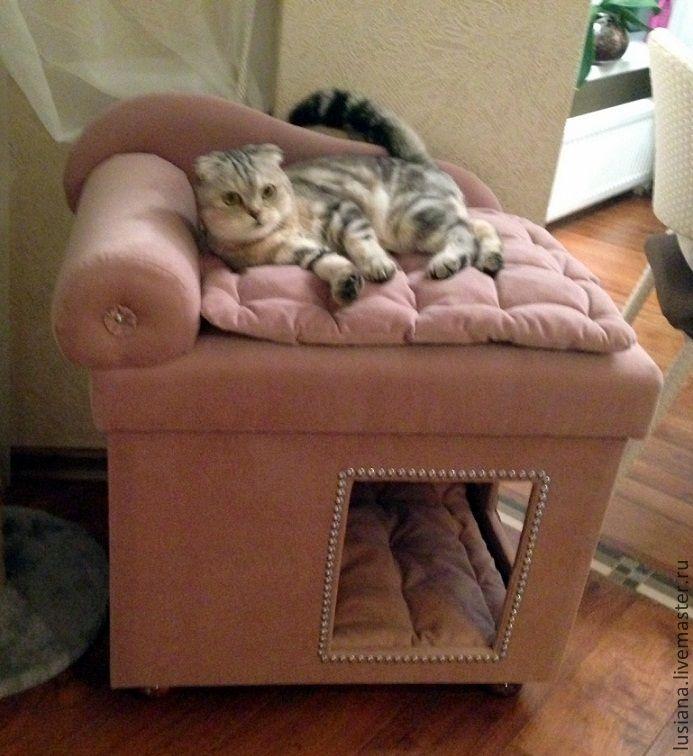 Домик для собак или кошек – купить или заказать в интернет-магазине на Ярмарке Мастеров | Роскошный домик с диванчиком для кошки или…