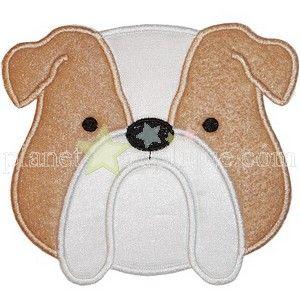 Applique-English Bulldog