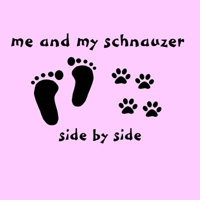 Just me and my Schnauzer! LOVE!!