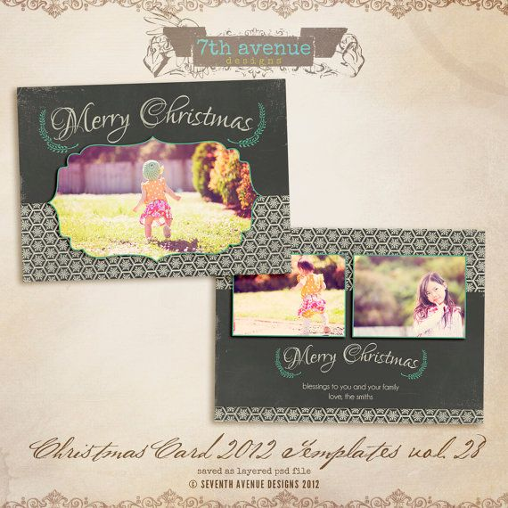 2012 Christmas Card Templates Vol28 7x5 Inch By